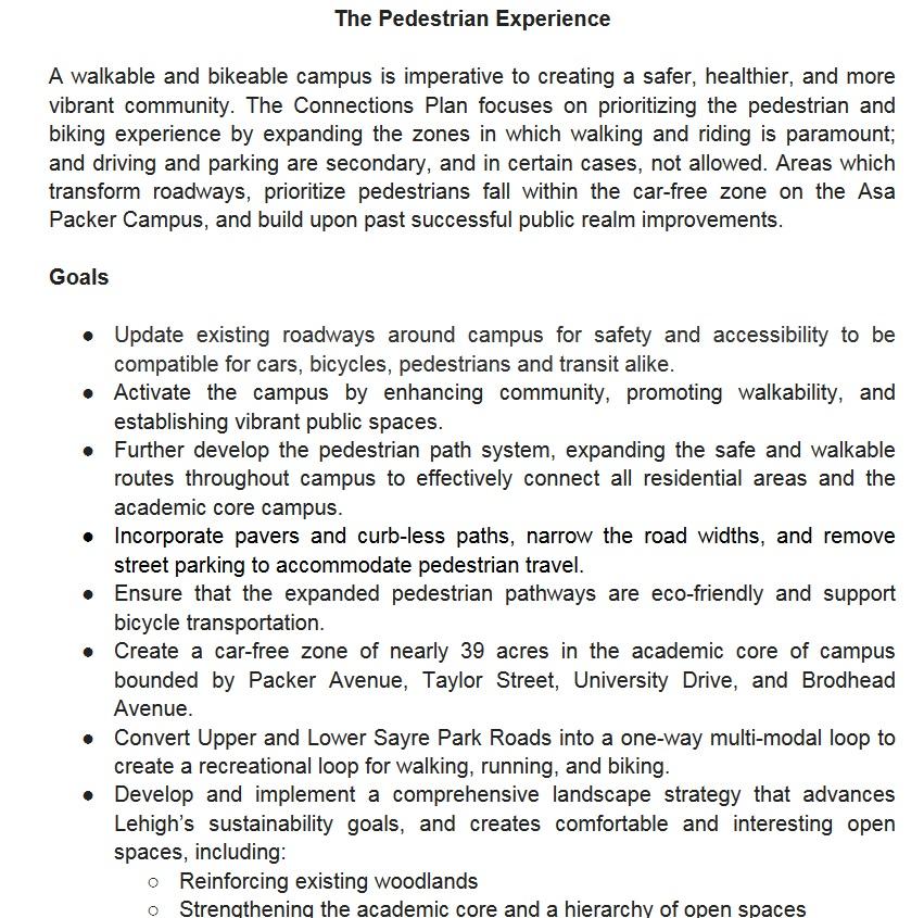 Pedestrian Experience